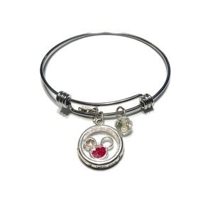 Disney Mickey Mouse Floating Charm Bangle Bracelet